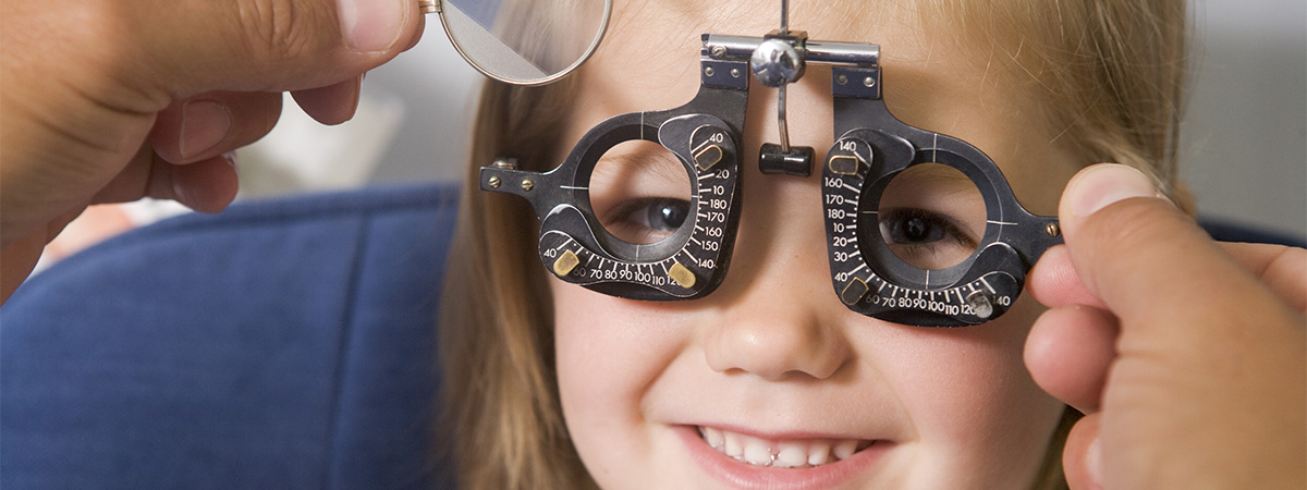 Young Girl Getting Her Eyes Checked