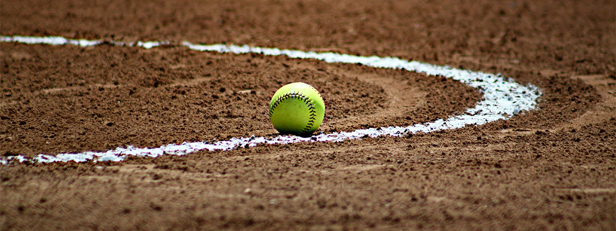 Softball Sitting on the Infield
